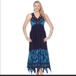 Floral Border Wrap Maxi Dress
